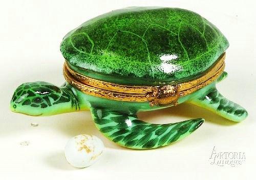 Limoges - Green Sea Turtle w/ a little egg