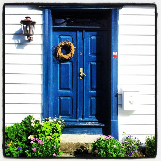 Blue door in Old Stavanger