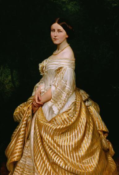 Queen Estefânia de Hohenzollern-Sigmaringen (1837-1859), painted in 1860 by C. Sohn - Ajuda National Palace