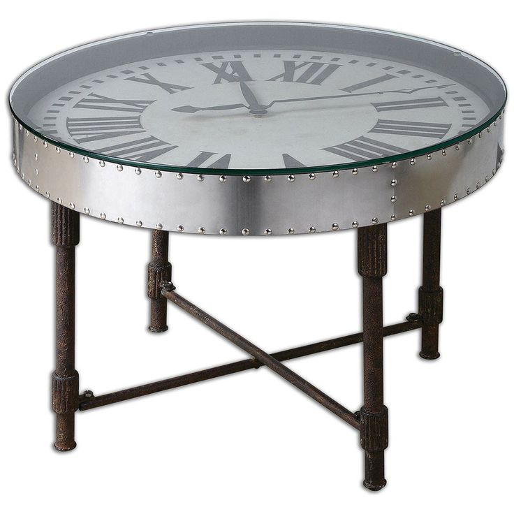 Uttermost Cassem Clock Table 24321