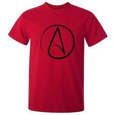 New ATHEIST SYMBOL T-SHIRT TEE Atheism Agnostic Science Darwin Religion God