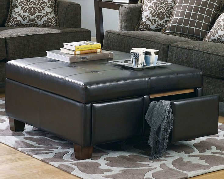 oversized square coffee table with storage