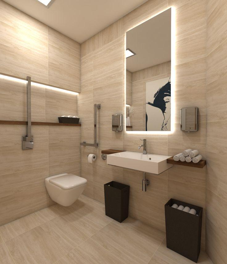 Architect Katka Petkovšek for Archdynamic: Hairsaloon Make Your Charm, Prague,  ADA toilet