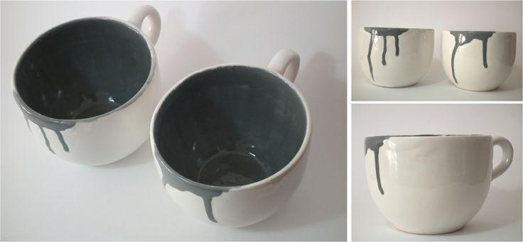 Spilled mug (large 110mm diameter x 80mm high)