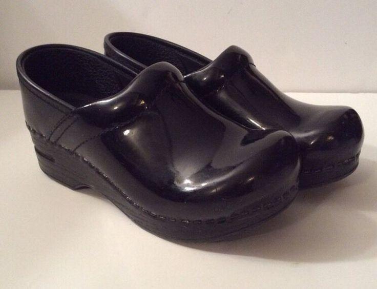 Girls Dansko Black Patent Leather Clogs Shoes Nurse Healthcare Size 31  | eBay