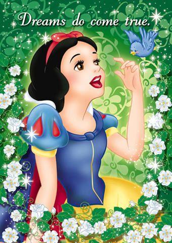 ディズニー 鳥と戯れる 白雪姫のイラスト