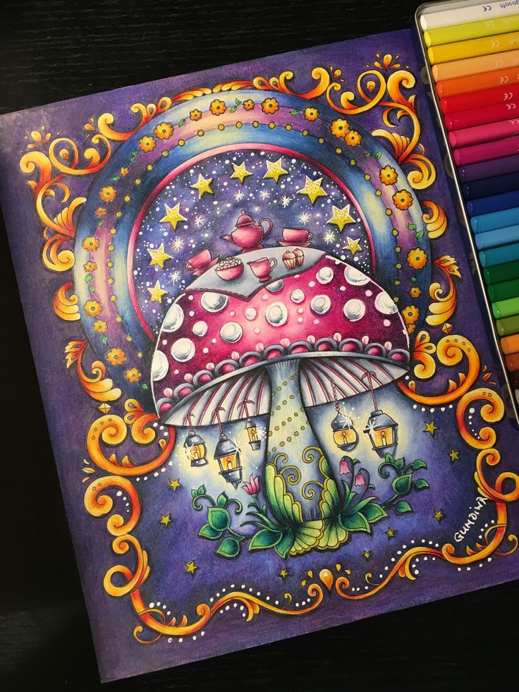 The Mushroom Page From Ivy And Inky Butterfly Johanna Basford
