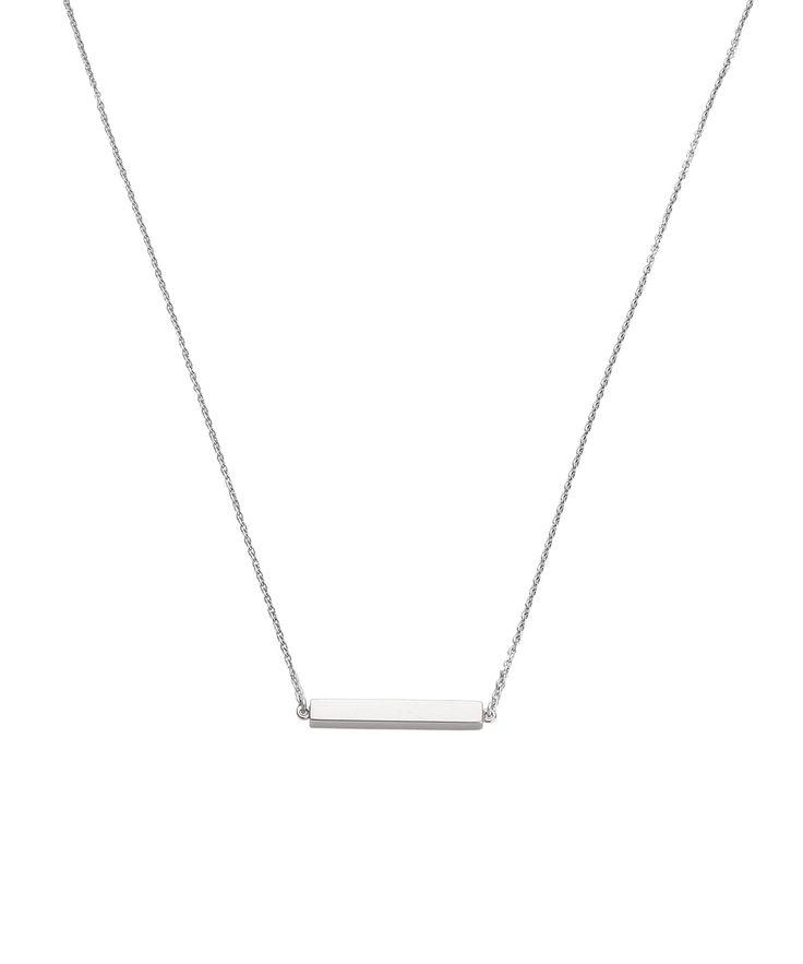 Necklace Sideway bar 42/45cm