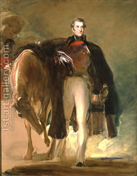 Sir David Wilkie:The Duke of Wellington and his Charger Copenhagen