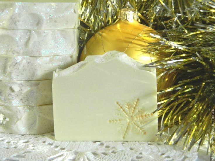 """Купить Мыло натуральное """"Снежинка"""" с нуля Подарок Новый 2017 Год Новогоднее - белый"""