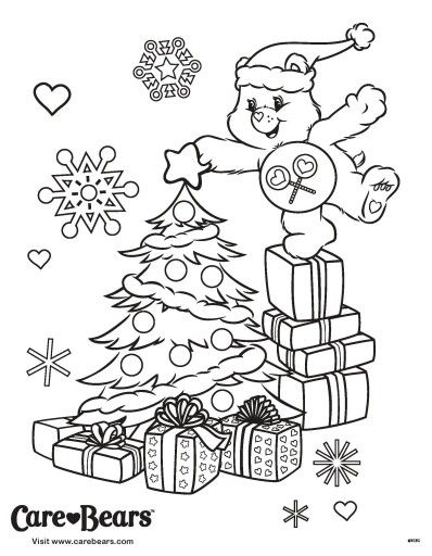 care bear coloring pages christmas - photo#12