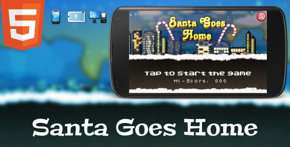 A new HTML5 game from Lovers Horizon. Help drunk Santa to reach home by avoiding all the junk in your way. Controls are simple: just tap the screen to move up or down.  Game includes Construct2 project for easy editing and you can edit game with free version of Construct 2.