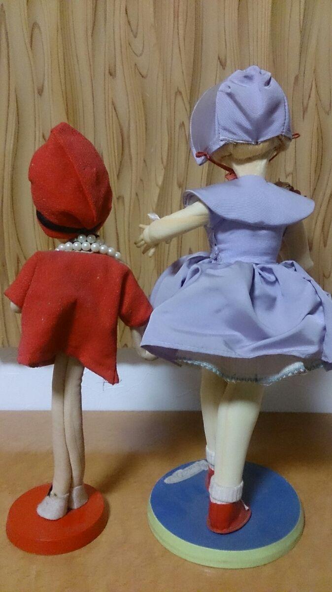 ポーズ人形 置物 インテリア 2体セット フランス人形_画像2