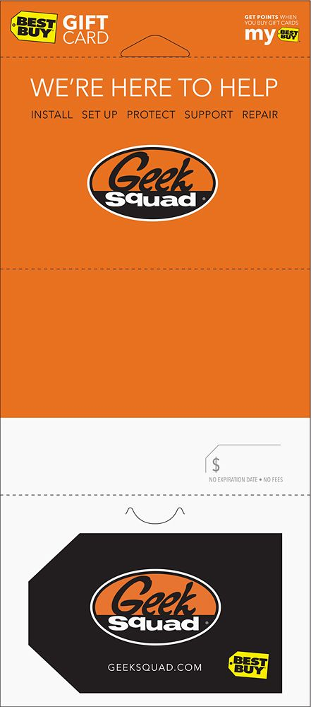 Best Buy Gift Card - $50 We're Here to Help Geek Squad Gift Card