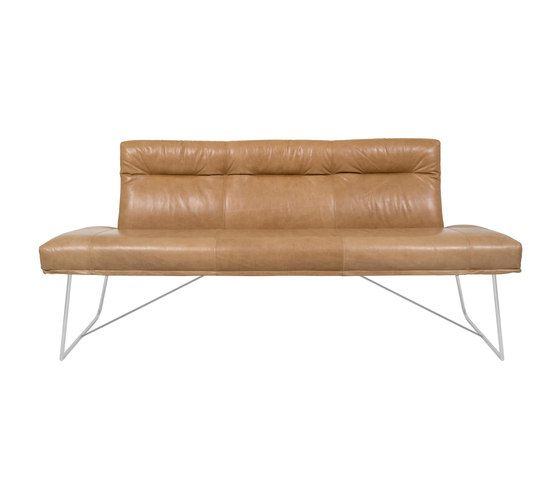 D-light Bench with Backrest by KFF | Lounge sofas