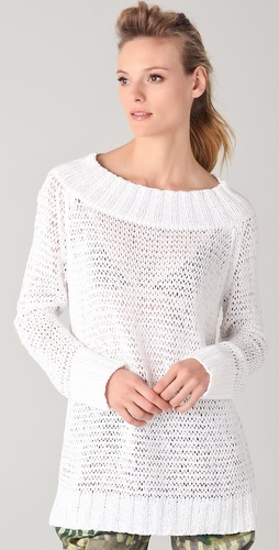Donna Karan Casual Luxe sweater to knit with one big needle and one little needle.
