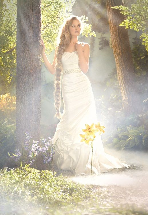 Disney Fairy Tale Weddings By Alfred Angelo Rapunzel Style Find This Pin And More On The Dress