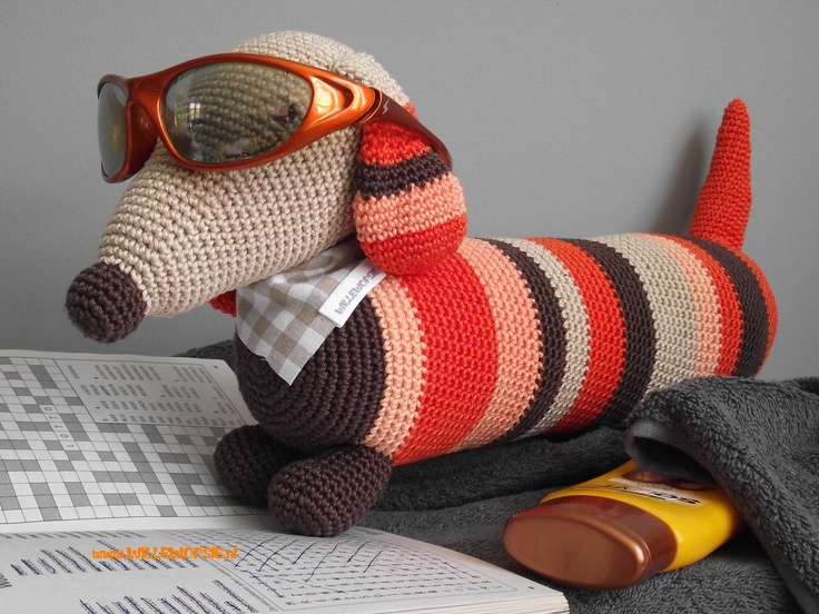 Amigurumi Wiener Dog Pattern : Best dog images crochet animals crochet toys