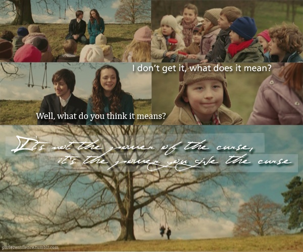 """""""It's not the power of the curse, it's the power you give the curse."""" From the movie """"Penelope"""". LOVE this movie!"""