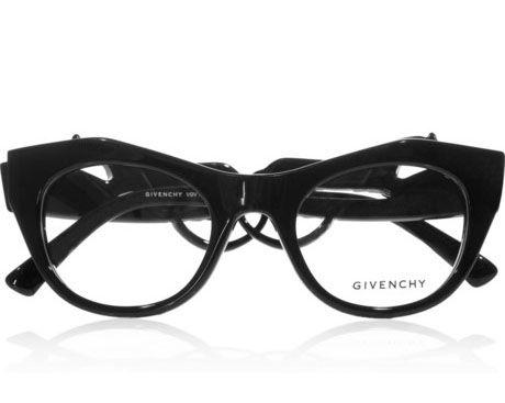 Givenchy Angular Cat Eye Frame Acetate Optical Glasses