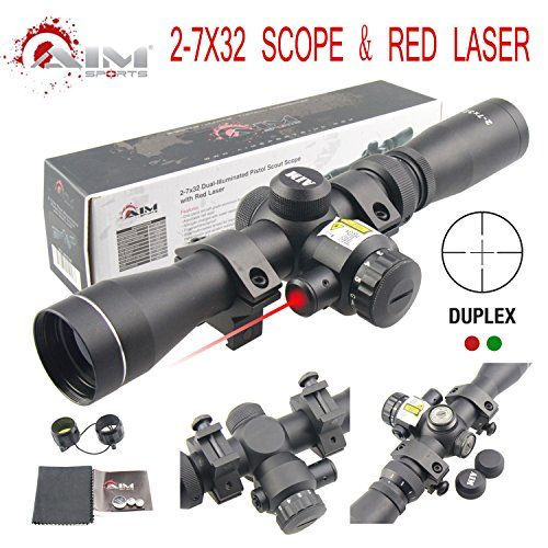 Special Offers - PROSUPPLIES @ AIM SPORTS 2-7X32MM LONG EYE RELIEF SCOUT SCOPE WITH RED LASER & DUPLEX RETICLE - In stock & Free Shipping. You can save more money! Check It (June 11 2016 at 04:07AM) >> http://huntingknivesusa.net/prosupplies-aim-sports-2-7x32mm-long-eye-relief-scout-scope-with-red-laser-duplex-reticle/