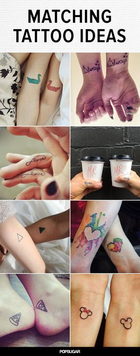Couples' tattoos can be pretty hit or miss. We've seen corresponding full-body tattoos that form torso-sized hearts and questionable ink with indiscernible meanings. And then there's always the issue of a potential breakup. Still, sometimes you get the cool couple with amazing ink ideas and who totally nail their matching tattoos. Here's some adorable body art.