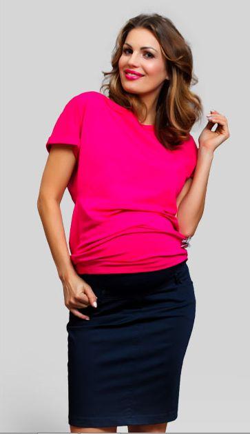 O fusta de maternitate eleganta, cu o taietura simpla, in stil creion. In fata si in spate are buzunare classice; talia se continua cu o banda elastica ce sustine burtica in crestere. E incredibil de confortabila datorita elastanului.   #maternity #office #skirt
