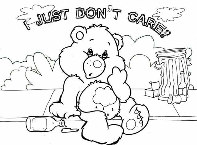 care bear adult coloringcoloring pagescare bearsmirror