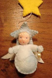 Angel with a star.  Repinned by www.mygrowingtraditions.com