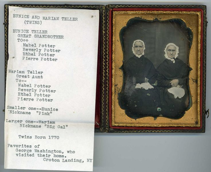 Large Family Archive of Dags - Twins That Sat on George Washington's Knee