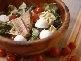 Tip: When making a cold pasta salad, rinse the pasta before you dress it to keep it al dente.