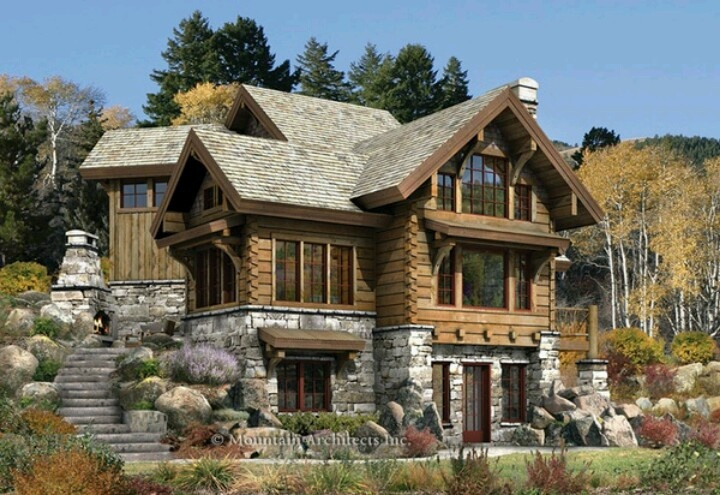 3 story cabin architecture pinterest for Three story log cabin