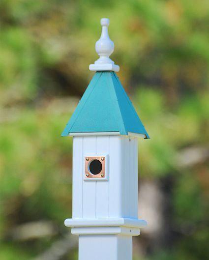 Best Copper Roof Verdigris Bluebird Birdhouse White Vinyl 24 In 400 x 300