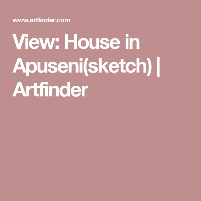 View: House in Apuseni(sketch) | Artfinder