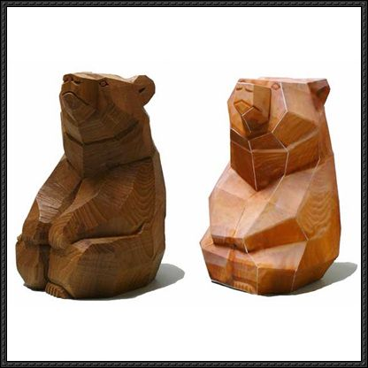 Wood Carving Bear Free Papercraft Download Http Www
