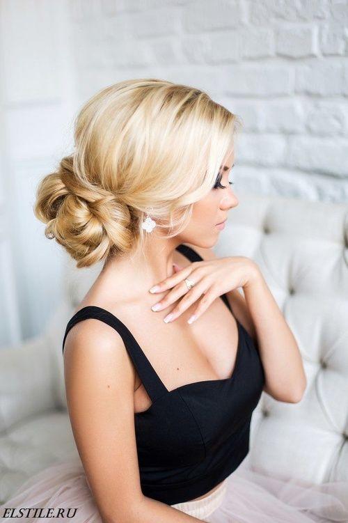 Прическа из средних волос фото. Свадебные прически на ...