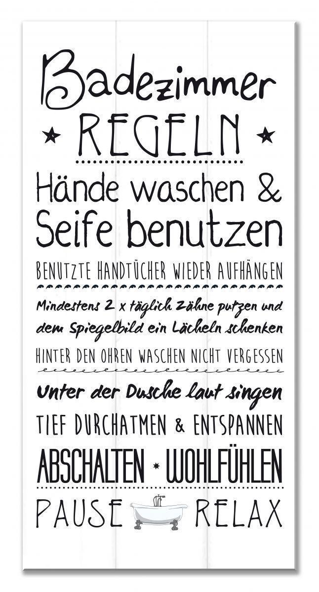 Wandschild Dekoschild Familien Regeln Badezimmer Shabby Schild Spruche Bad Tafel Citation Sur Les Signes Parement Mural Shabby
