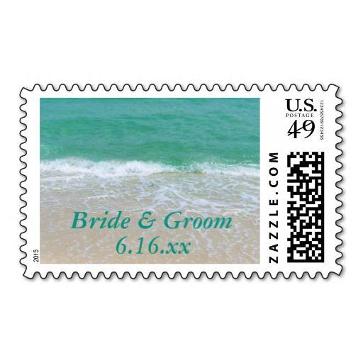 Custom Save The Date Beach Wedding Stamp