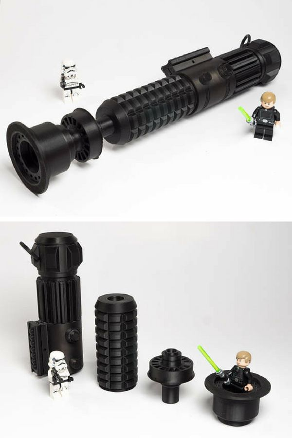 Paintable Star Wars inspired lightsaber replica. Can be split down further for easy of painting. They look even better once painted. A must for any star wars fan. #ad #starwars #lightsaber #replica #paintable #geek #giftidea #fangift #cosplay