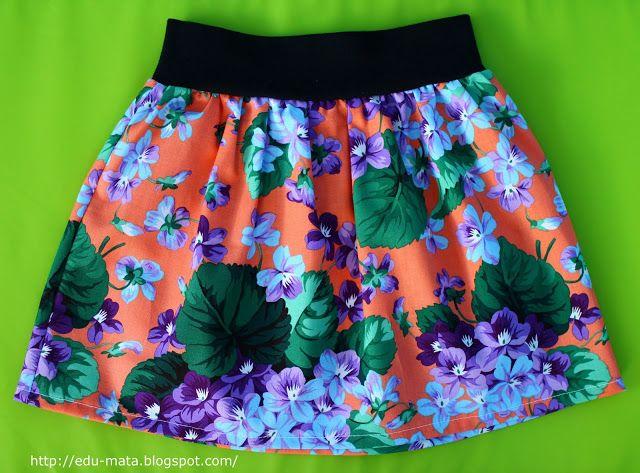 edu-mata, szycie, szycie spódniczki, spódniczka 98, jak uszyć spódniczkę 3 lat, sewing skirt 3 yrs, sew skirt, sew baby skirt,