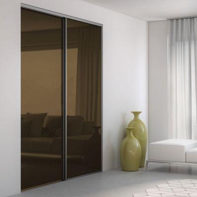 1000 images about porte coulissante en verre laqu on - Porte coulissante noire ...