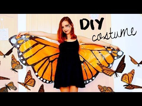 DIY Halloween Costume! Monarch Butterfly | Under 3$ With Garbage Bags!? (with Pictures)