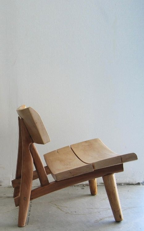 French By Design: Raw Beauty  Carved Wood Chair