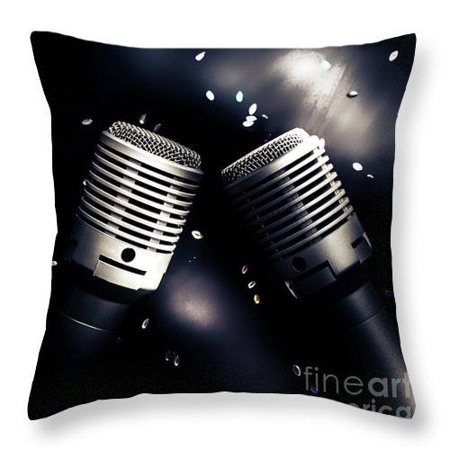Microphone Throw Pillow featuring the photograph Microphone Club by Jorgo Photography - Wall Art Gallery