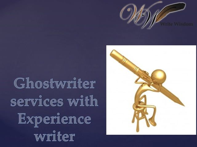 Ghostwriter services usa