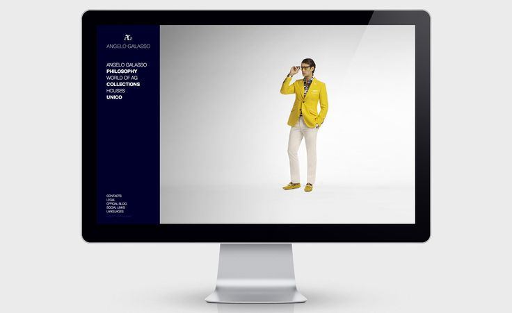 UX/UI design and study of the JScript animations for Angelo Galasso's responsive website