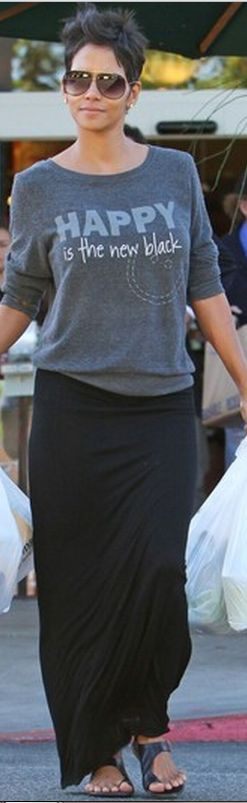Who made Halle Berry's gray peace sweatshirt?