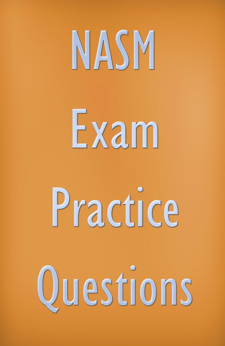 NASM certifies personal trainers, allied health professionals, and other fitness professionals. If you're looking to start a career in one of these fields, be sure to take a look at these NASM exam practice questions. #nasm #sports