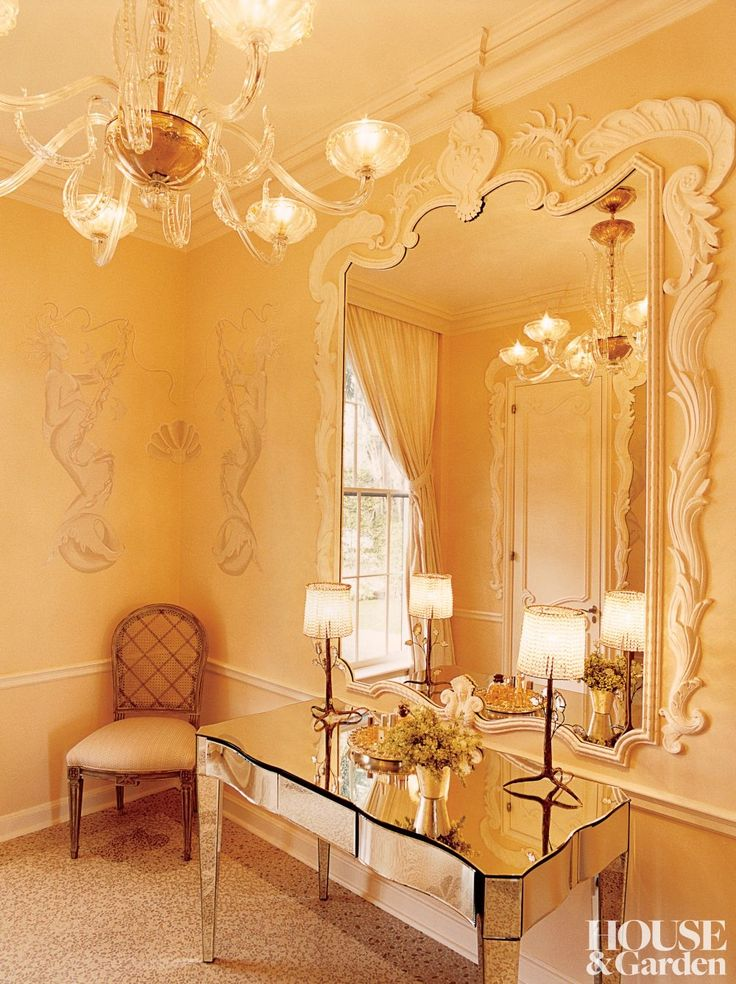 Bunny Williams Wilbur Ross And Hilary Geary Powder Room In Their 1939 Georgian Revival