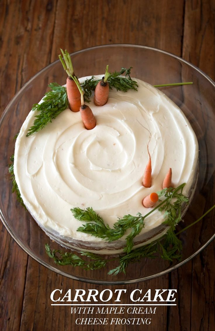 The Whisking Kitchen: Carrot Cake with Maple Cream Cheese ...